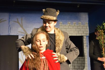 """Carly Pometto, front, and Rachel Kilgallon in """"Into the Woods Jr."""" at Laurel Mill Playhouse."""
