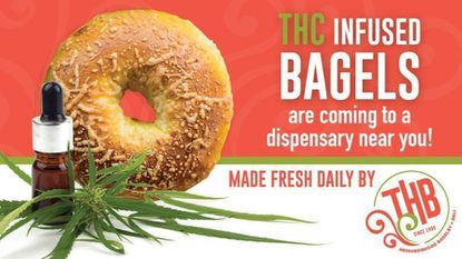A post on THB's Facebook page Sunday claimed the bagel shop would begin making marijuana-infused bagels. It was an April Fools' joke.