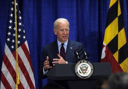 Democratic presidential candidate Joe Biden is picking up several Maryland endorsements following the Super Tuesday primaries, including one from a former Baltimore mayor who had been in Michael Bloomberg's camp. Biden is shown in this 2019 photo at the Maryland State Police Forensic Science Division.