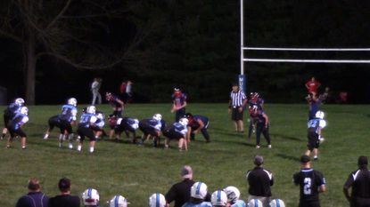 The Gamber-Smallwood varsity football team, which competes in the Mountain Valley Youth Football League, is shown in action.