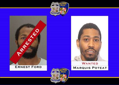 Ernest Ford, 28, was arrested by Baltimore Police who say he killed 49-year-old MobilityLink van driver Frankye Duckett on Friday night. Police are still searching for Marquis Poteat, who they say was also involved.