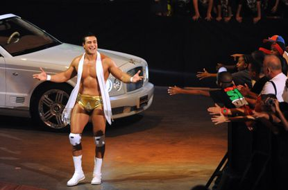 Alberto Del Rio arrives for his match in a Bentley during a 2010 WWE event at Baltimore Arena in Baltimore.