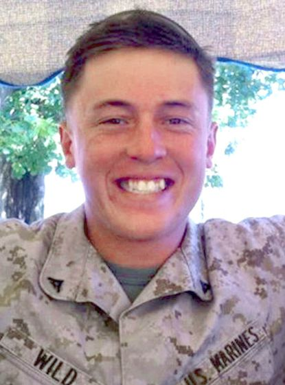 Marine Lance Cpl. William Taylor Wild, 21, was killed in a training accident Monday at Hawthorne Army Depot, NV. Handout photo