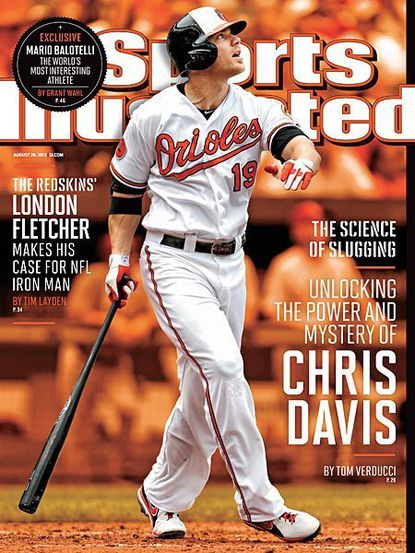 Chris Davis will do his best to avoid Sports Illustrated cover jinx