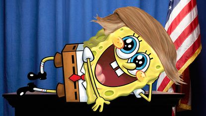 SpongeBob SquarePants with Donald Trump Hair for No Reason
