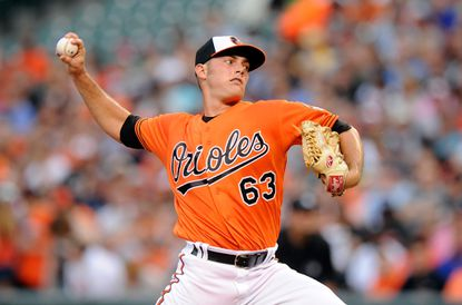 Orioles starterTyler Wilson pitches in the second inning against the New York Yankees at Oriole Park at Camden Yards on June 4, 2016 in Baltimore.