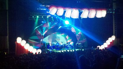 Experimental indie-rock band Animal Collective performs at Merriweather Post Pavilion on Oct. 2.
