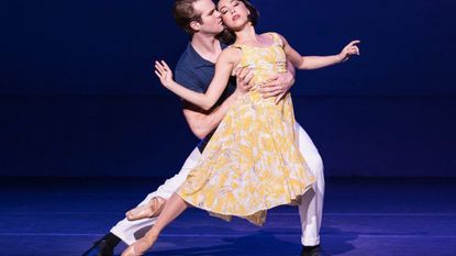 """McGee Maddox, left, and Allison Walsh in """"An American in Paris."""""""