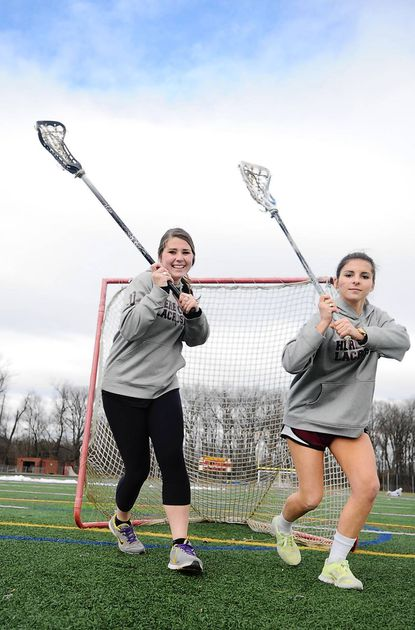 Hereford senior defenders Caitlin Abbott, left, and Emily May will be looking to protect the goal this season for coach Anne Ensor and the Bulls.