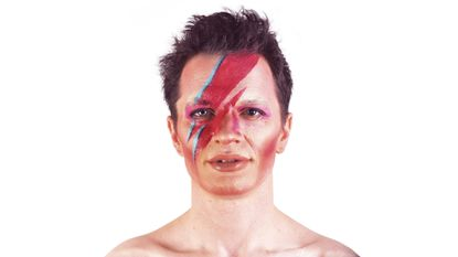 Ed Schrader as David Bowie (Makeup by Maura Callahan)