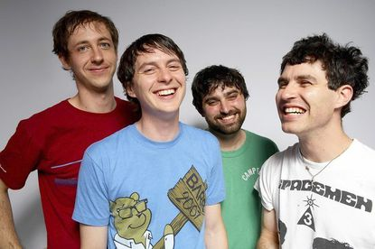 Avey Tare (far right) with the other members of Animal Collective