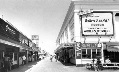 A glimpse of the Ocean City boardwalk in 1983. Lots of sunshine, arcades and restaurants. Basically FDR... Or so The Sun said in a 1982 article, comparing the Maryland beach town with Delaware's Rehoboth Beach.