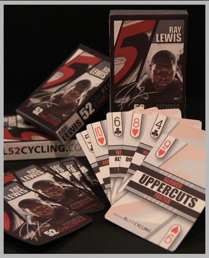 Ray Lewis wants to sell you $75 fitness playing cards