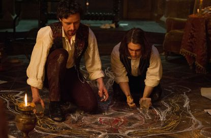 """James McAvoy and Daniel Radcliffe star as Victor Frankenstein and his friend and assistant Igor in """"Victor Frankenstein."""""""