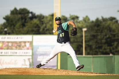 After missing the 2020 season due to the coronavirus pandemic and the first few months of this year with an injury, former Reservoir star Cody Morris, pictured here with Lynchburg in 2019, is having the best success of his pitching career and has ascended through Cleveland's minor league system.