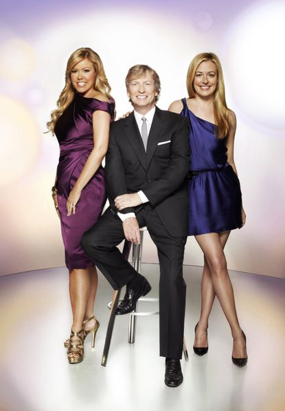 Cat Deeley (right) hosts with judges Mary Murphy (left) and Nigel Lythgoe.