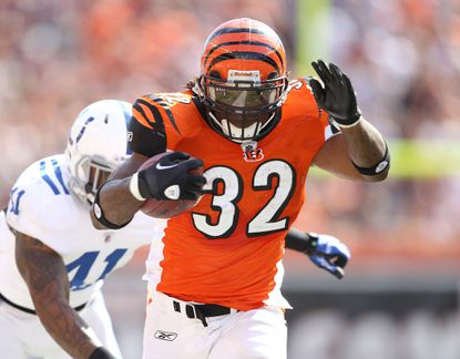 Cincinnati Bengals running back Cedric Benson carries the ball against the Indianapolis Colts.