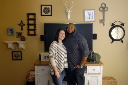 Ravens nose tackleBrandon Williams and Alyssa Karel pose for a photo in their Pikesville home. Williams and Karel announced their engagement on Twitter on Wednesay.
