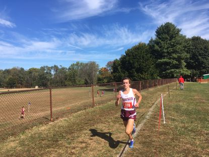 Towson junior Peter Sorensen won the Baltimore County boys race at the championship meet by 26 seconds over his closest pursuer.