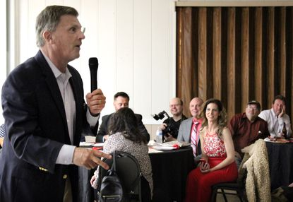 Hours before the first presidential debate, former Gov. Bob Ehrlich talks to voters about the need for true freedom of speech, and why he supports the reelection of President Donald Trump. After his speech, Ehrlich left the Glen Burnie event for a debate watch party at his home in Annapolis.