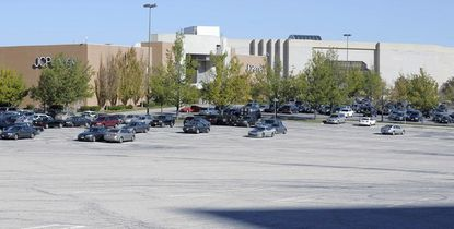 A mostly empty parking lot outside Macy's at the Owings Mills Mall Wednesday, Oct. 13, 2010.