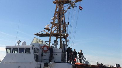 Costa Rican officials in Baltimore on Tuesday, Feb. 13, 2018, raised their country's flag aboard the Libertador Juan Rafael Mora Porras, one of two 110-foot, decommissioned U.S. Coast Guard patrol boats that were donated to the Central American nation.