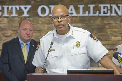 Joel Fitzgerald at a 2015 news conference when he was police chief in Allentown, Pennsylvania.