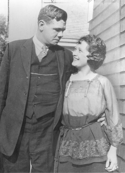 Baltimore-born slugger Babe Ruth wed quiet Boston waitress Helen Woodford in a small ceremony at St. Paul's Catholic Church in Ellicott City in 1914.