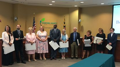 Eight new, two returning Harford school board members sworn in