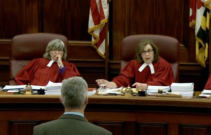 Maryland Court of Appeals judges hear oral arguments in Annapolis. Would a data base revealing the length of sentences imposed by individual judges make them more accountable or just fearful of being seen as lenient?