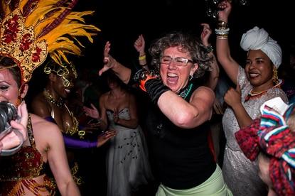 Megan Hamilton (center) at Creative Alliance's 2014 Marquee Ball.