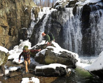 The falls are only the second highest in the state, but that doesn't make them any less picturesque. Hike the 1.2-mile Falling Branch Trail in Harford County and just wait until you hit the end.