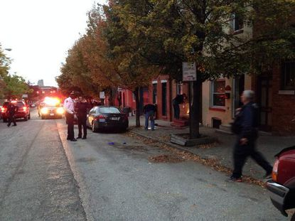 Shooting scene in Fells Point