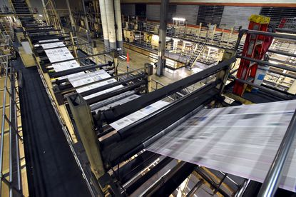 The Baltimore Sun Media Group's Sun Park printing press in operation opened in 1992.