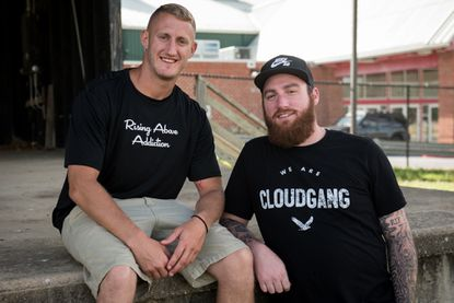 Jesse Tomlin, left, and Brian McCall founded the Addiction and Recovery Awareness MusicFest, featuring regional musicians and speakers also in recovery. The festival will be held Saturday at the Carroll County Agricultural Center.