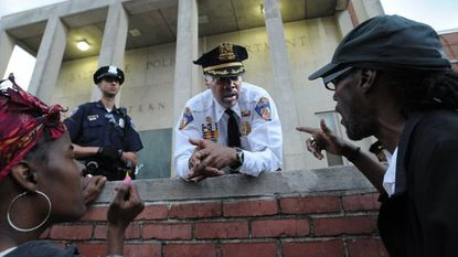 Acting Deputy Police Commissioner Melvin Russell is widely credited with helping calm tensions after Freddie Gray's death. He will leave the department under a restructuring by new Commissioner Michael Harrison.