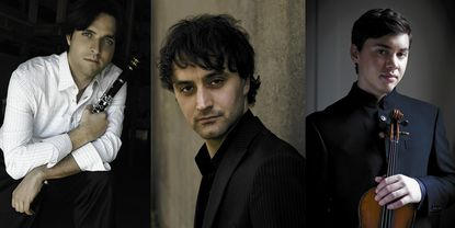 Musicians Jose Franch-Ballester, Ran Dank and Benjamin Beilman formed MiXt in 2011. They will perform for the Candlelight Concert Society on Saturday, Dec. 14, at Howard Community College's Smith Theatre.