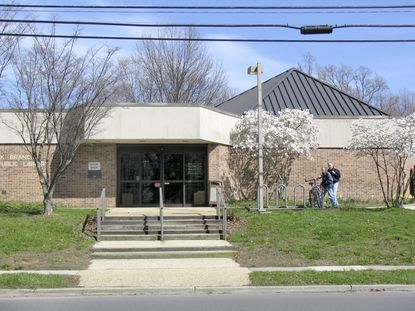 The Eastport-Annapolis Neck Branch Library on Hillsmere Drive across from Quiet Waters Park.