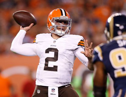 Johnny Manziel's introduction to the NFL has not been smooth