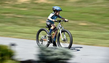 Westminster resident Brody Reppe, 8, recently learned how to ride his bike. Now he's working on riding with his dad, Dan, some 50 miles to raise money for a C&O Canal fund.