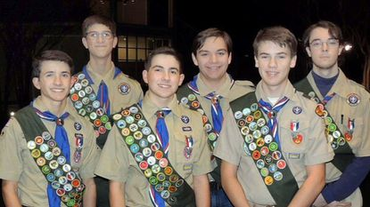 Six scouts from Cape Boy Scout Troop 783 earned Eagle Scout status recently. They are, top row from left to right: David Nekula, Jack Kelly and Leo Brown. Bottom row from left to right: Matthew DiPietro, Andrew DiPietro and Will Sizemore