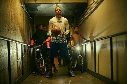 Stephen Curry appears in an Under Armour ad.