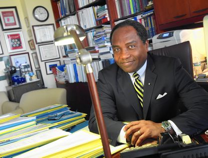 Dr. Griffin P. Rodgers, director of the National Institute of Diabetes and Digestive and Kidney Diseases in Bethesda, is a finalist for a Samuel J. Heyman Service to America Medal.