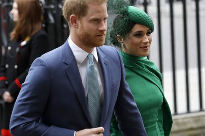 FILE - In this March 9, 2020, file photo, Britain's Harry and Meghan the Duke and Duchess of Sussex arrive to attend the annual Commonwealth Day service at Westminster Abbey in London. Many say it was painful to watch Meghan's experiences with racism invalidated by the royal family, members of the media and the public, offering up yet another example of a Black woman's experience being disregarded and denied. (AP Photo/Kirsty Wigglesworth, File)