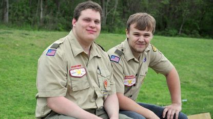Best friends Dylan Howell and Gabriel Carter earned Eagle Scout rank together. They each chose to build benches at North Glen Park for their projects.