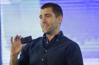<p>Facebook's Chief of Product officer, Chris Cox, speaks in Lagos, Nigeria in 2017. Cox, who grew up in Winnetka and was long one of CEO Mark Zuckerberg's top deputies, is leaving the company.</p>