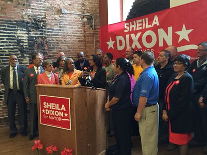 Sheila Dixon is endorsed by 30 people, including elected officials, unions and community leaders