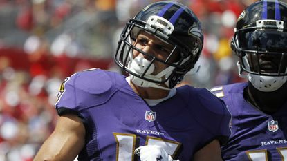 Ravens wide receiver Michael Campanaro remains out of practice Wednesday with a pulled hamstring.