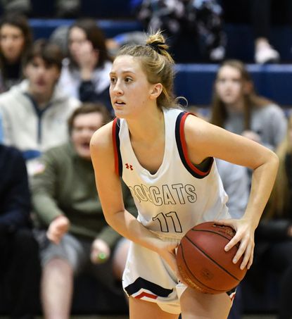 Bel Air's Maggi Hall sank two free throws late in the game at C. Milton Wright Thursday to lift the Bobcats to a 14th straight win.