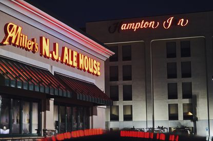 The Hampton Inn in Woodbridge, N.J. on Dec. 28, 2020. Nijeer Parks was accused of shoplifting and trying to hit an officer with a car and is the third known Black man to be wrongfully arrested based on face recognition.